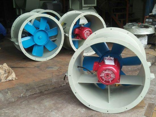 Quạt hướng trục công nghiệp tròn motor trực tiếp