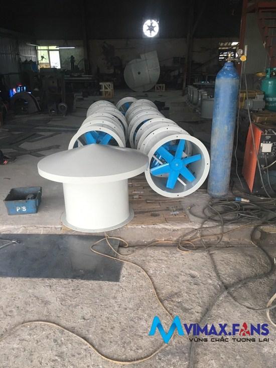 Các loại model quạt hướng trục công nghiệp