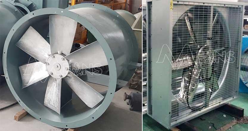 phân loại quạt thông gió công nghiệp
