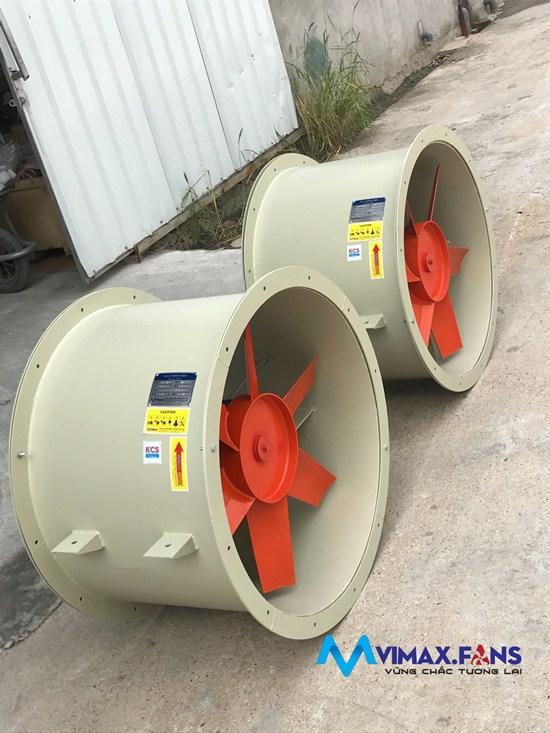 Quạt hướng trục nối ống cấp gió với lưu lượng lớn