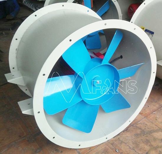 Quạt hút gió hướng trục tròn công nghiệp thông gió nhà xưởng