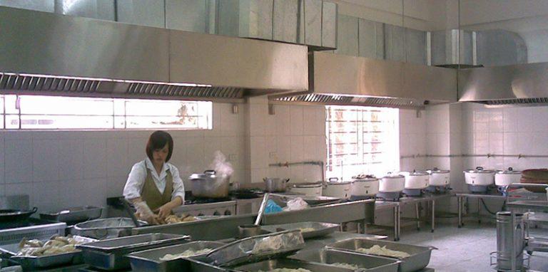Thi công lắp đặt thiết kế hệ thống quạt hút bếp ăn công nghiêp