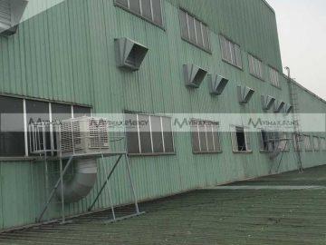 Lắp đặt quạt hút công nghiệp 1380x1380x400 cho các KCN