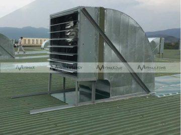 Quạt hút gió nhà xưởng gắn tường công suất lớn