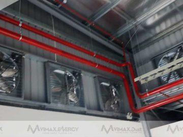 Quạt thông gió công nghiệp vuông trong hệ thống thông gió làm mát