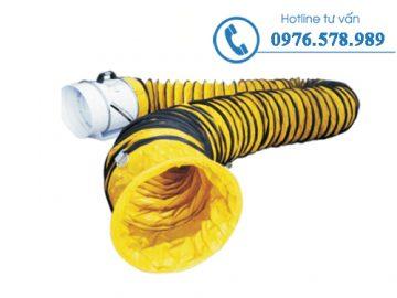 Ứng dụng Ống gió mềm vải simili hút khí bụi trong phòng sơn